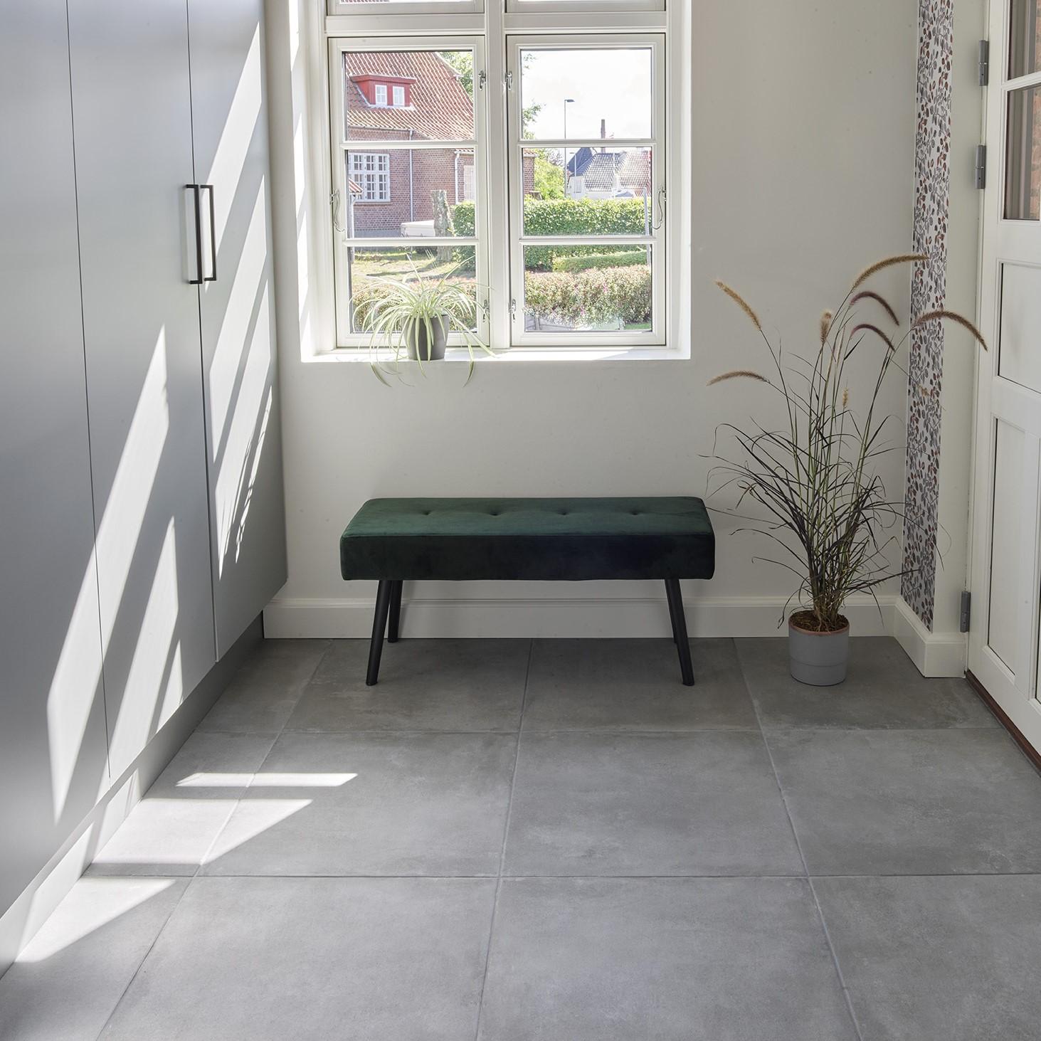 Picture of: 90 X 90 Gulvklinke Med Beton Look Super Flot Top Kvalitet